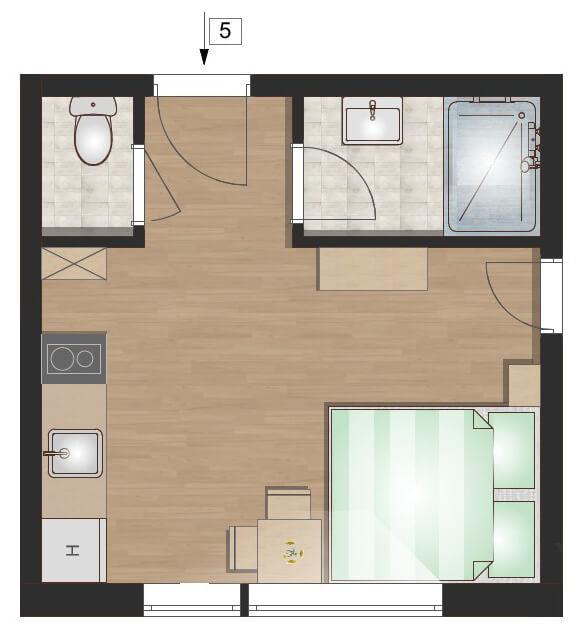5. apartman alaprajz